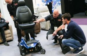 Pride powerchair being assessed