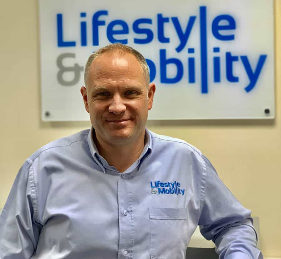 lifestyle and mobility specialist Simon Greenway