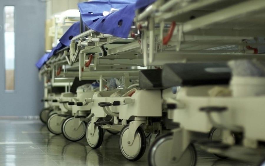 nhs winter pressures trolley in corridor BMA warning